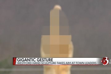 Man Spends $4000 On Statue That Gives Entire Town the Middle Finger