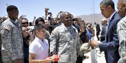 Remember When President Obama Signed Autographs For the Troops
