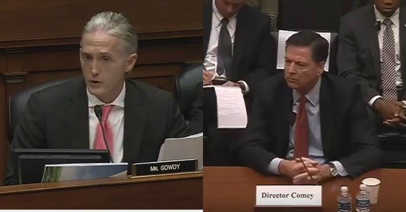 Trey Gowdy Warns 'Forgetful' James Comey After He Runs His Mouth - 'See You on Monday!'