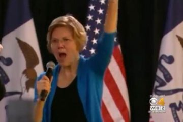 Wealthy Elizabeth Warren's Microphone Stops Working and Lights Go Out