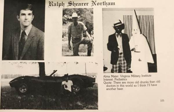 virginia governor ralph northam kkk blackface