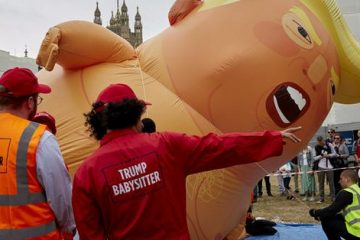 'Based Amy' Stabs Trump Baby Balloon