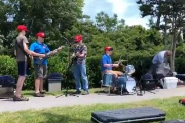 Teen Band Plays Their Hit Song 'CNN Sucks!'