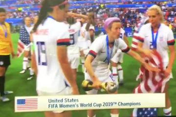 Women's Soccer Player Tosses US Flag to the Ground