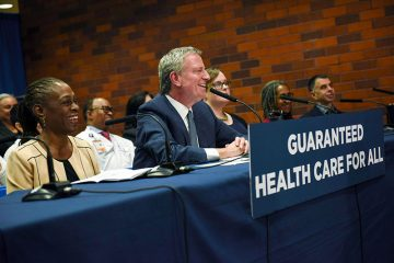 democrat hopeful bill de blasio medicare for all