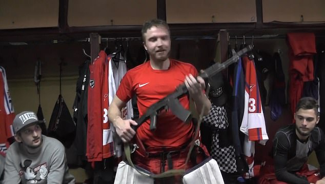 Russian Hockey Goalie ak-47