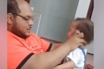 Saudi Arabian Dad Slapping His Baby Daughter