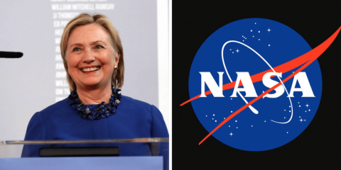 Hillary Clinton NASA