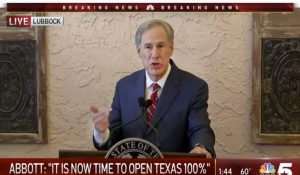 TX Gov. Issues New EO: No Mandatory Masks, All Businesses Open